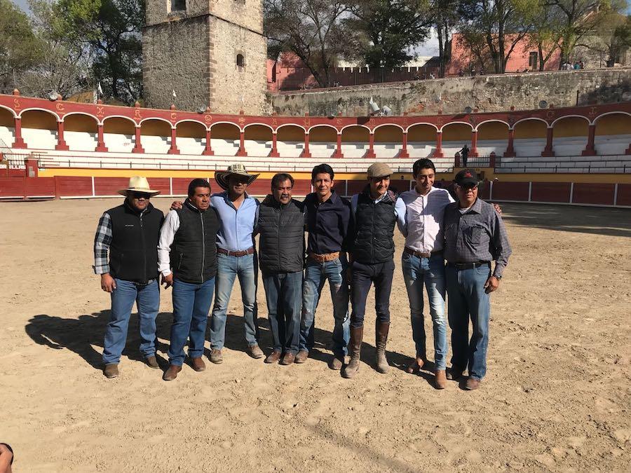 Una tienta pública en la Plaza de Tlaxcala para despedir el año