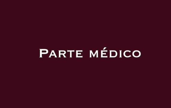 Parte médico del subalterno Gerardo Angelino
