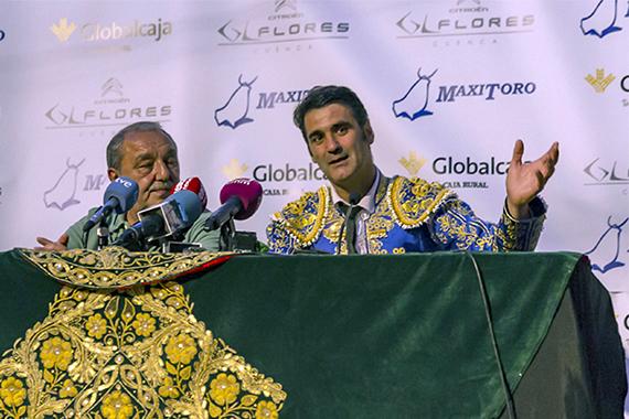 La histórica rueda de prensa de Jesulín reúne a decenas de periodistas