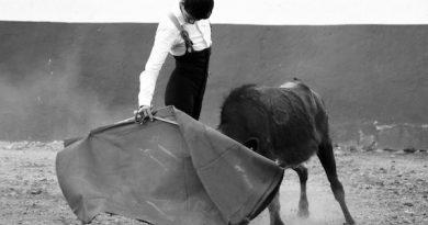 Cristian Antar estuvo ensayando en la ganadería de Campo Hermoso