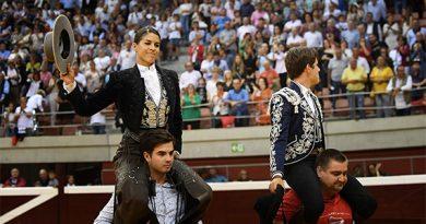 En Logroño… Puerta Grande de Lea Vicens y Guillermo Hermoso de Mendoza