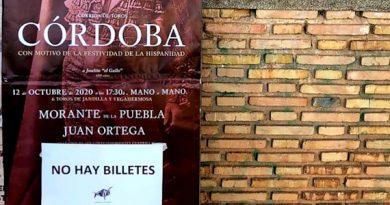 Córdoba cuelga en 24 horas el 'No hay billetes' para la Corrida de la Hispanidad