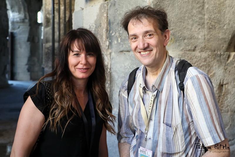 La fotógrafa Muriel Haaz y su servidor