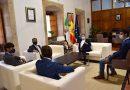El presidente de Extremadura recibió a los novilleros extremeños finalistas del Circuito del Norte